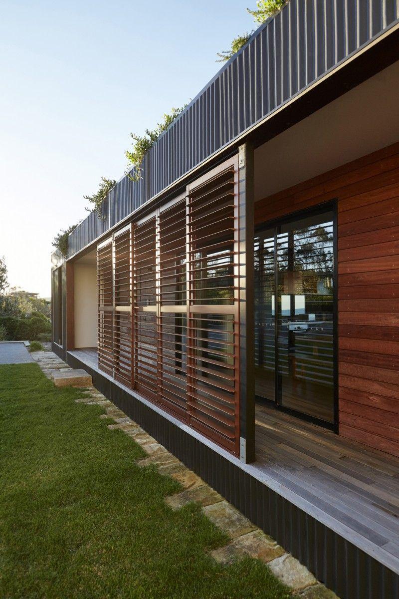 Avalon A Modern Prefab Beach House With Green Roof By ArchiBlox - Avalon truck