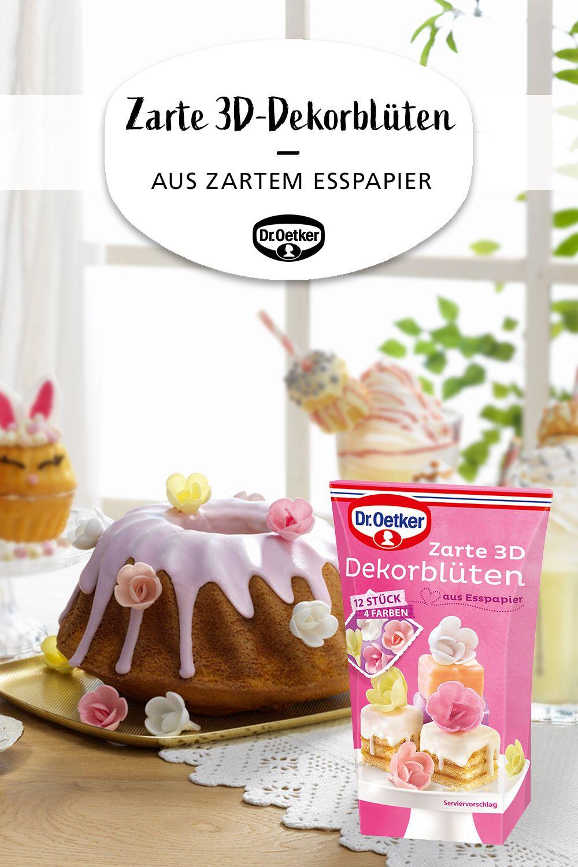 Zarte 3d Dekorbluten Haschenkuchen Hubsche Kuchen Kuchen Verzieren