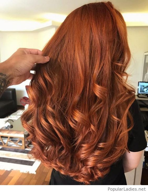 Amazing red curly hair