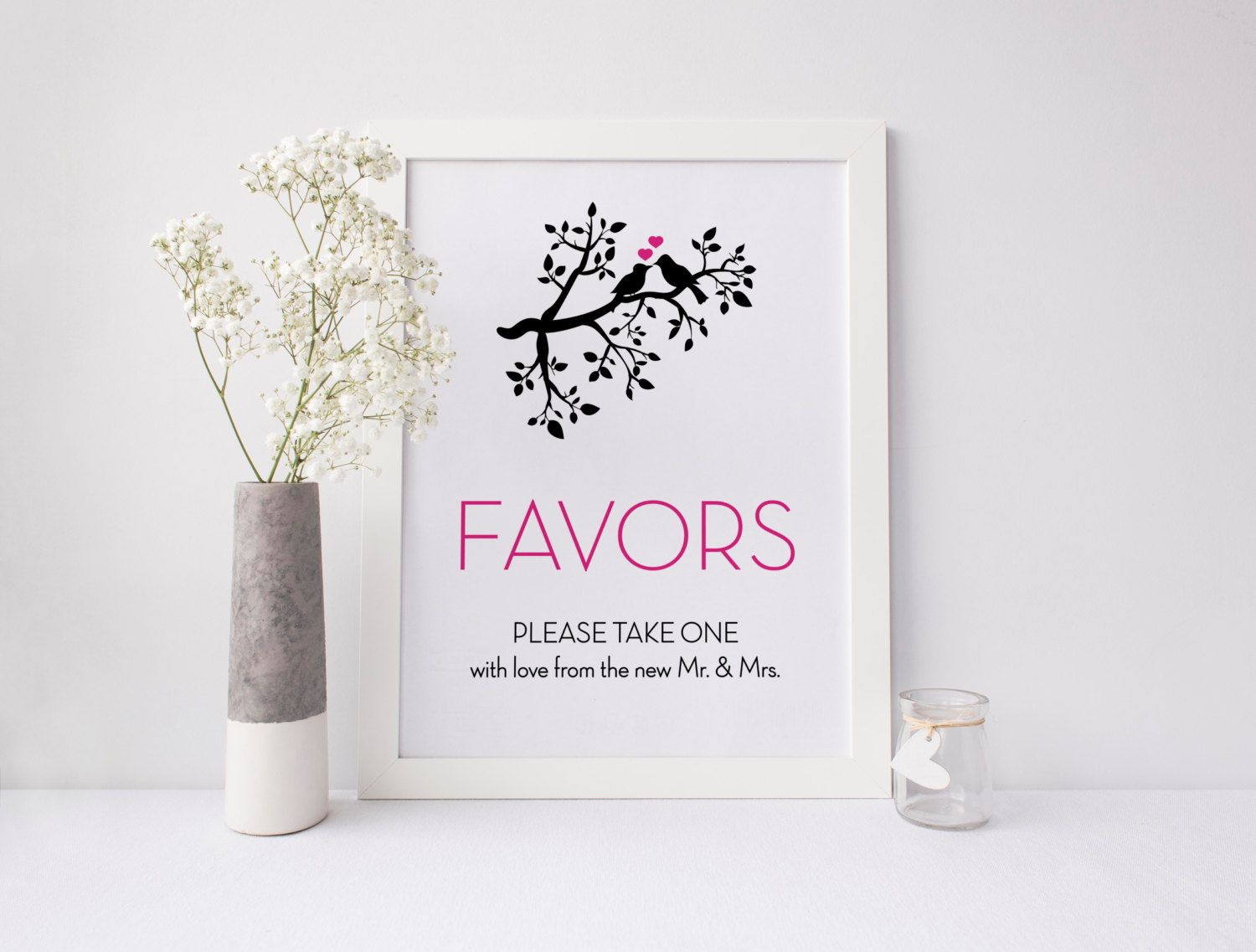 Vintage Bird Print ~ Favors Sign ~ Wedding Favors ~ Please Take One ...