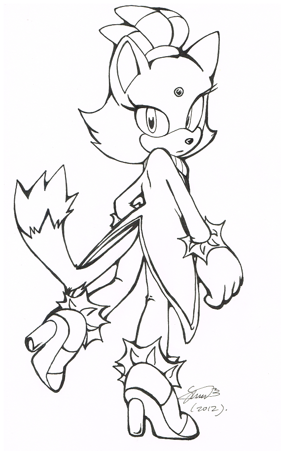 part of my series of black and white sonic characters drawn on a3