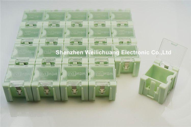 50 Pcs Haute Qualite Smd Smt Composants Electroniques Mini Boite De Rangement Pratique Bijoux De Stockage Cas Couvercle Transparent Jewellery Storage Mini Storage Tool Organizers
