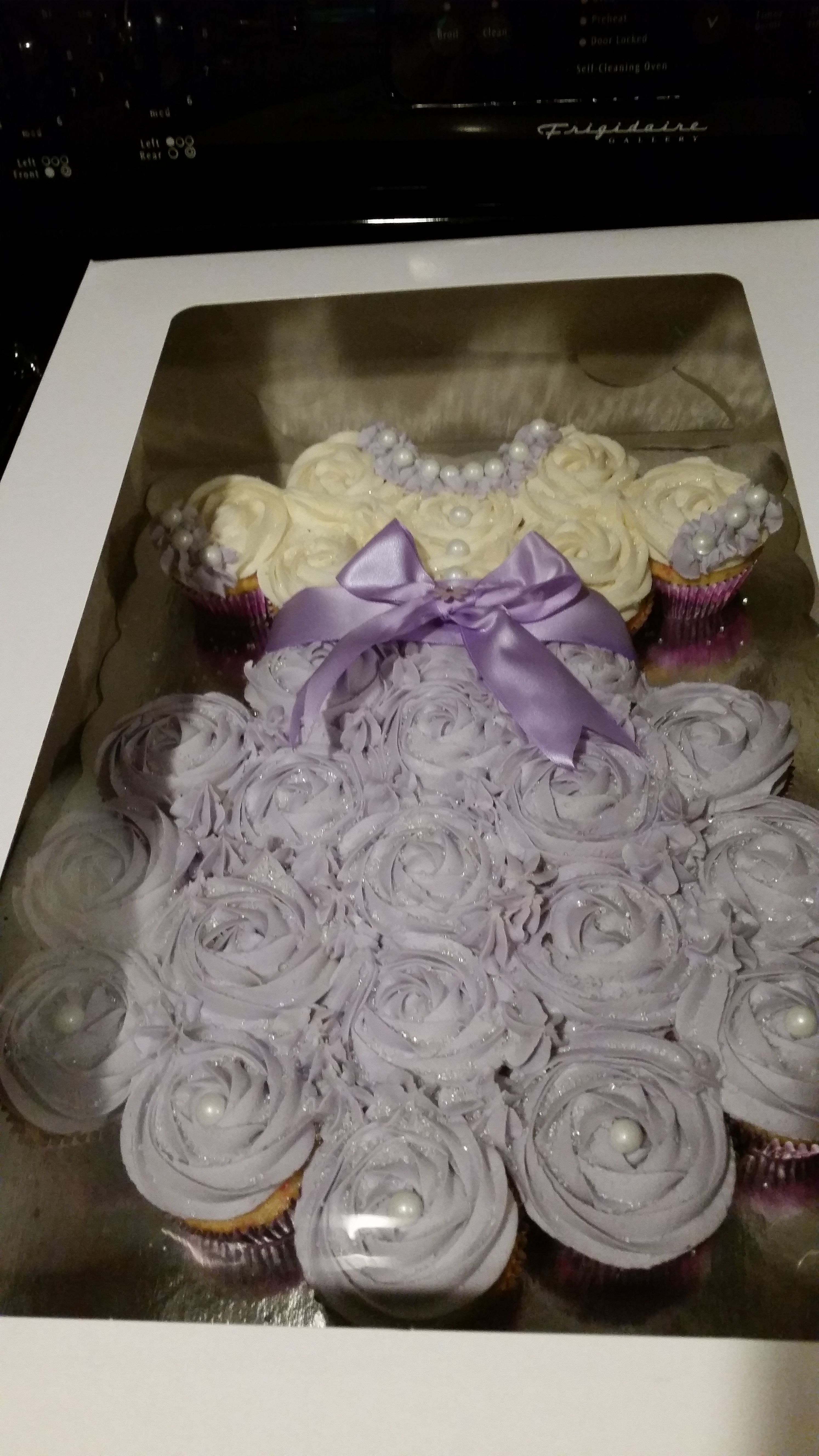 Baby Girl Dress Pull Apart Cupcake Cake Great For Baby Shower