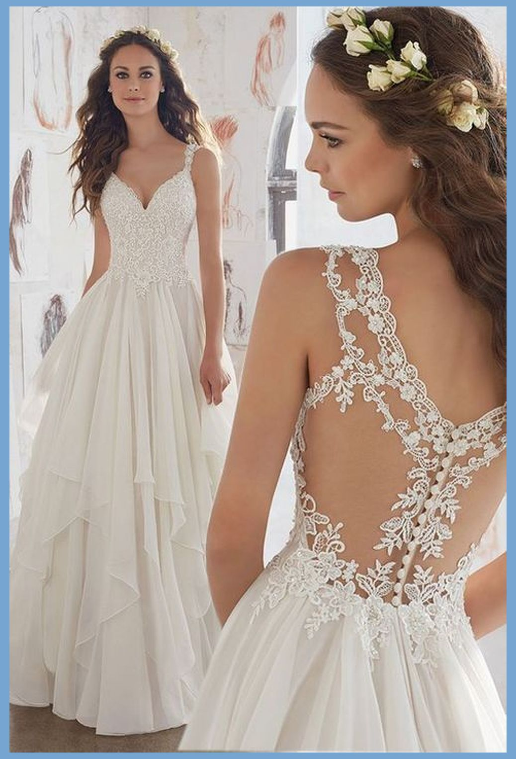 What Wedding Jewelry To Wear With Your Dress Neck And Shape Ruffle Wedding Dress Used Wedding Dresses Dresses