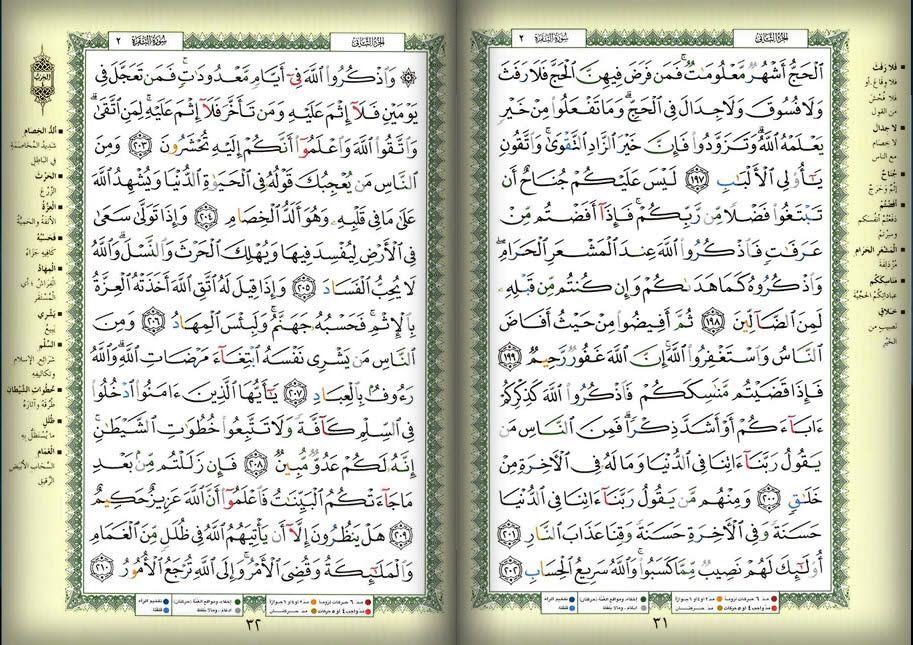 صفحه 31 32 القرآن المصور الجزء الثانى سوره البقرة Bullet Journal Wallpaper Quotes Journal