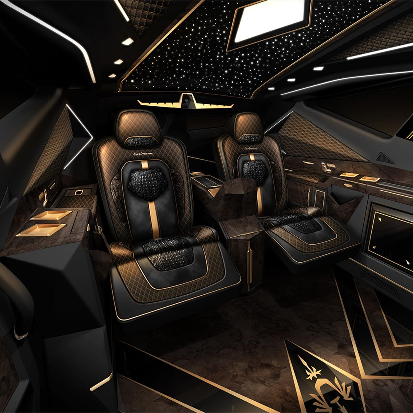 Karlmann King The World S Most Expensive Suv Is A Ford F550 At Heart Luxury Car Interior Custom Car Interior Luxury Cars