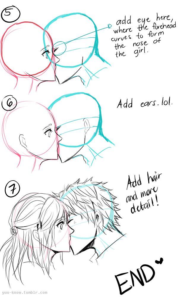 Kissing Tutorial Pt 1 Drawing Tutorial Face Drawing Tips Manga Drawing Tutorials