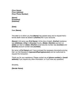 Sample Letter To Creditors Insolvent Estate