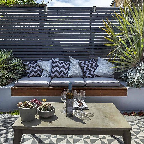 Private Small Garden Design ideas for this small south London courtyard garden evolved from the client's love of the hand made Italian tiles is part of Small garden design -