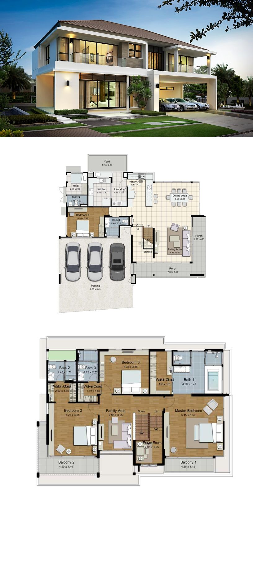 Land And Houses Minimalist House Design Modern House Plans Dream House Plans