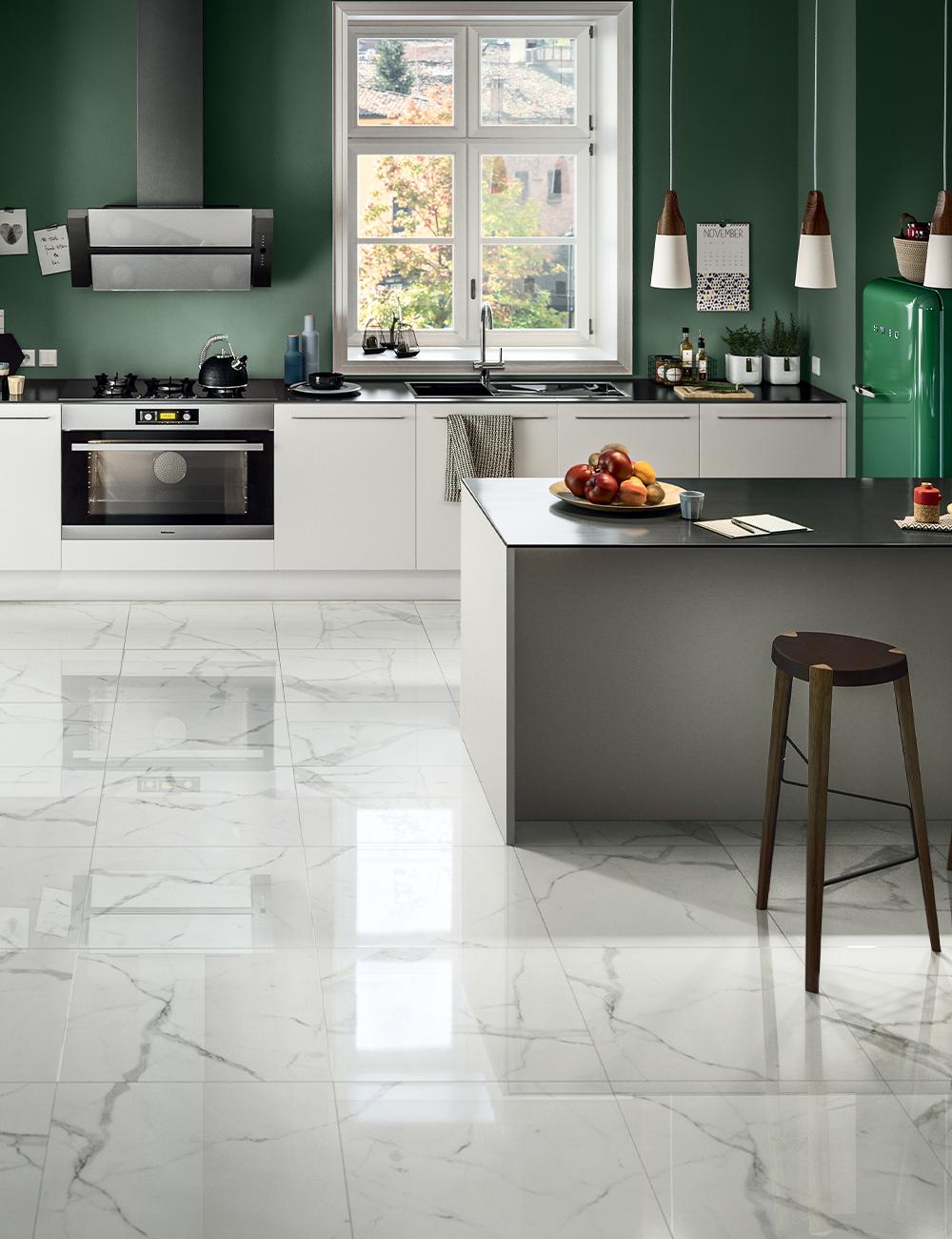 Gres Porcellanato Effetto Marmo Luxor White Full Lappato 60x60 Rettificato Arredo Interni Cucina Pavimento Cucina Piastrelle Cucina