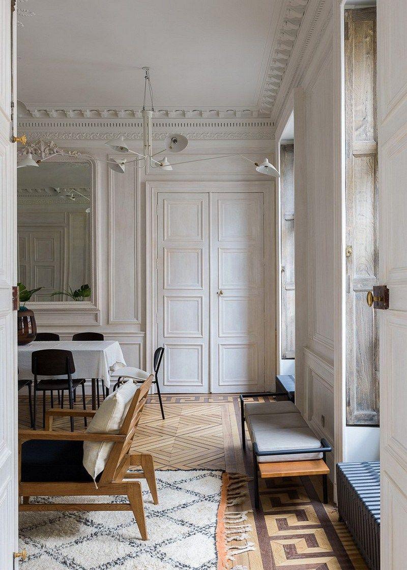 Appartement xii razavi architecture haussmannien for Salle a manger haussmannien