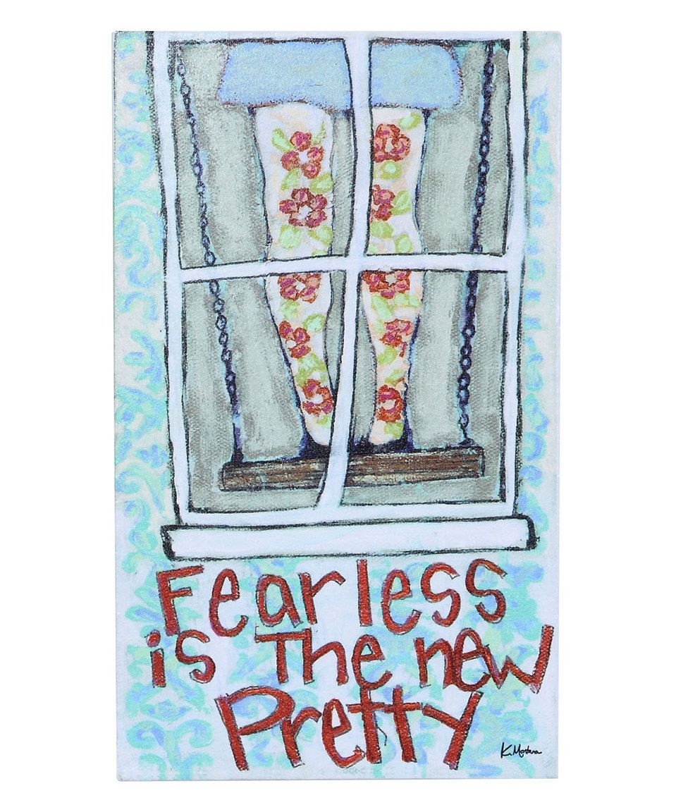 Love this ufearless is the new prettyu wall plaque by creative coop