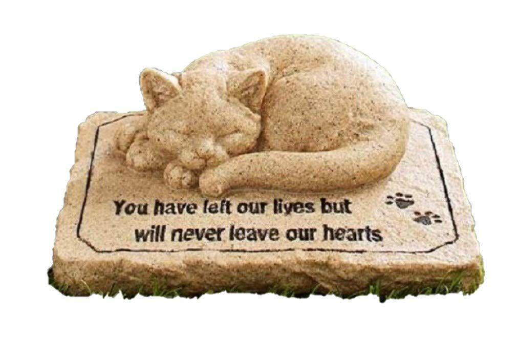 Ct discount store cat memorial stone cold cast ceramic