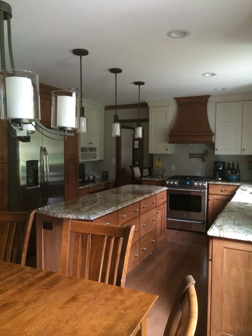 Kitchen Renovation Maple Ridge: Kitchen Remodel 2014. Two-toned Maple Custom Cabinets By