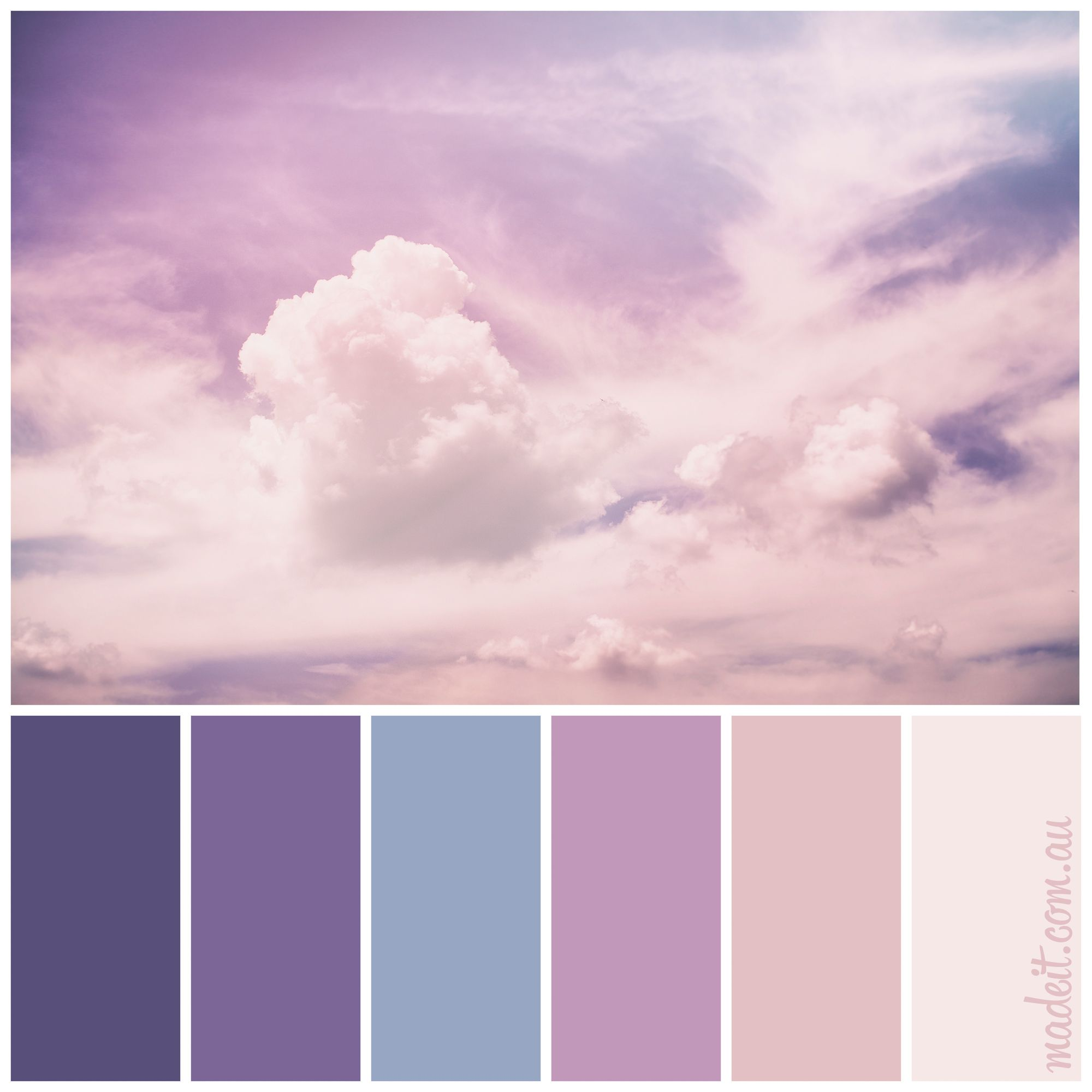 Pastel Color Palette: Dreamy Pastel Skies.... A Heavenly Colour Palette To