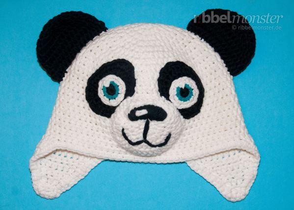 "Panda Mütze häkeln ""Paddy"" | Háčkovanie | Pinterest | Mütze häkeln ..."