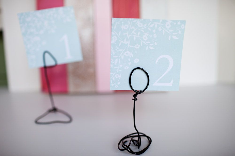 Diy Friday Wire Table Number Stands Project Wedding Blog Diy Table Numbers Diy Table Number Stands Table Number Stands
