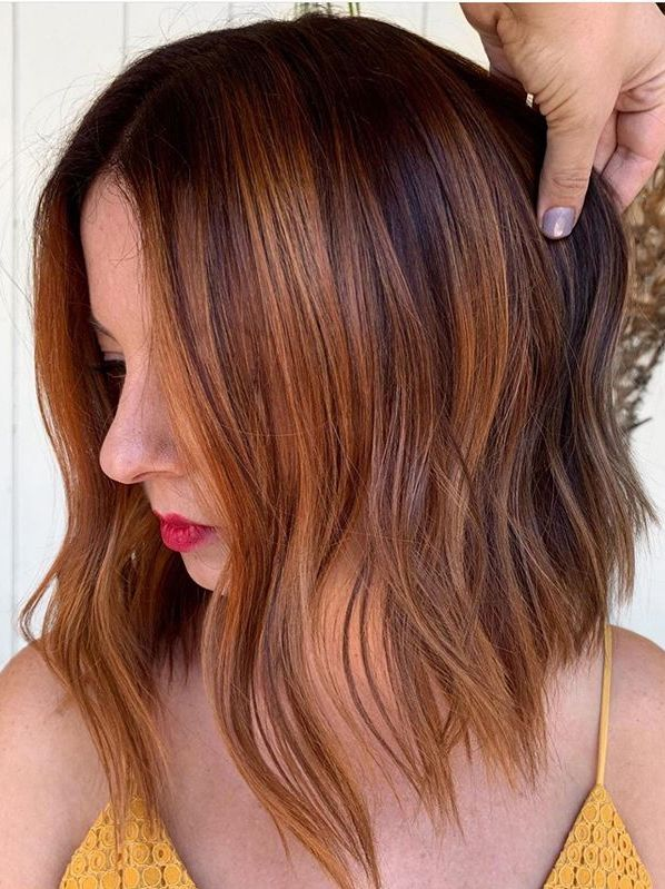 Hot Copper Balayage Hair Color Ideas for Ladies in 2020 | Fashionsfield