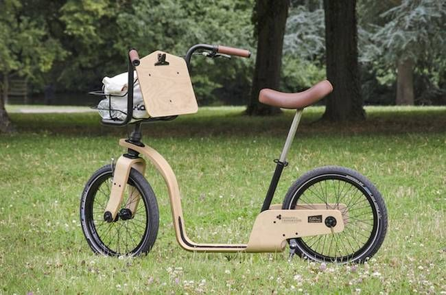 Easy-to-ride pedal-less wooden bike revives an early form of bicycling : TreeHugger