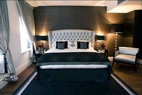 I Love The Textured Metallic Wallpaper  For The House I Will Have Gorgeous Hotels Bedrooms Designs Design Ideas