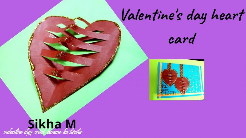 valentine day card banane ka tarika  rachaels cards