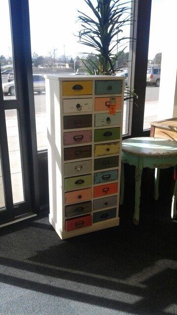 Vintage Multi Colored Drawer Hobby Lobby Hobby Lobby Furniture Upcycled Furniture Locker Storage