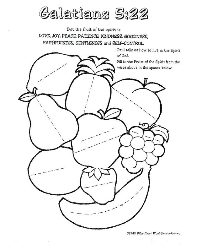 Fruit Of The Spirit Coloring Page Holy Spirit Craft Fruit Of The Spirit Sunday School
