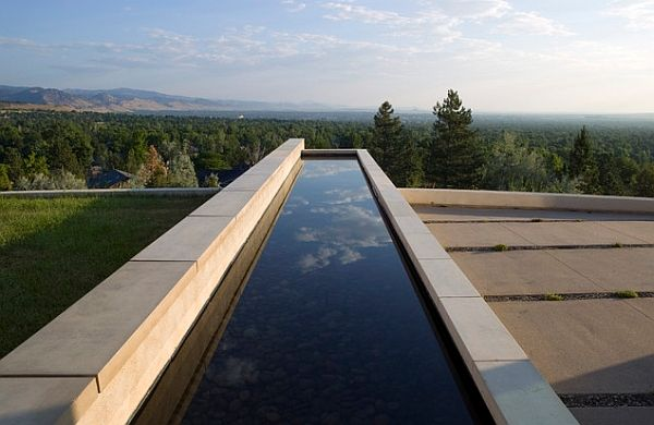 Catch a glimpse of the sky in the reflecting pool ...