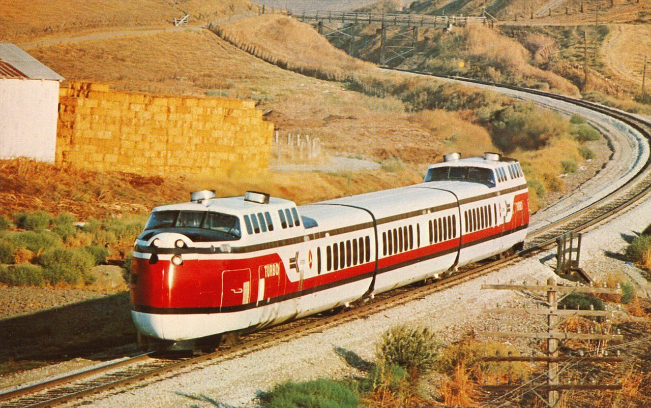 During 1971 this United Turbo Train made a tour through