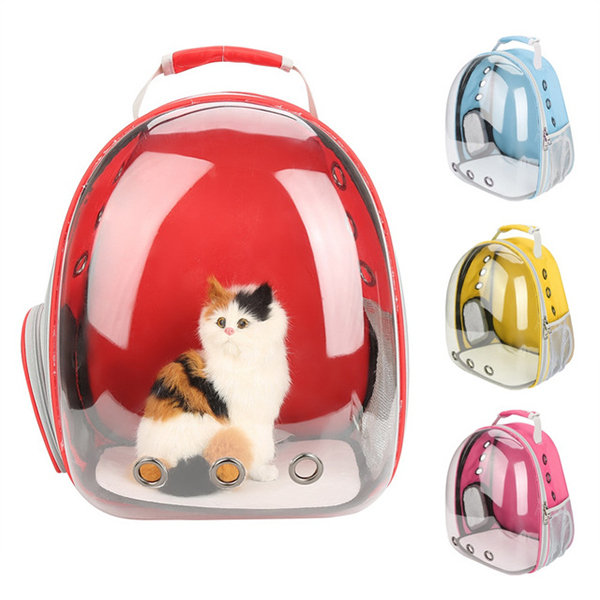 Herewegoo Pet Cat Kitten Puppy Carrier Backpack Space Capsule Transparent for Hiking Traveling
