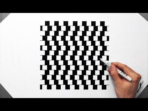 Drawing Lines Of Symmetry Games : Optical illusion speed drawing lines of confusion how to draw