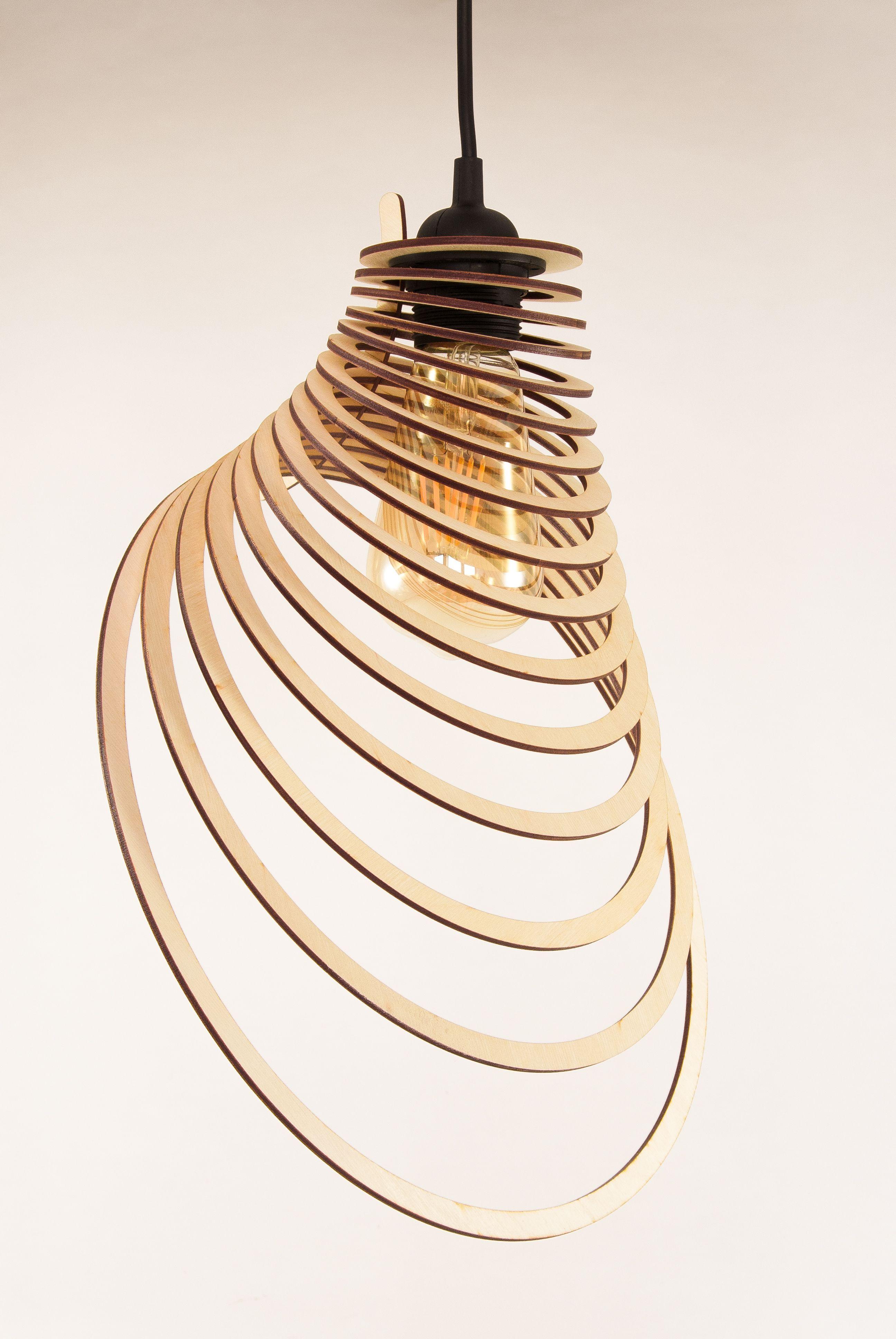 Wooden Lamp Shade   Wood Lamp   Hanging Lamp   Pendant ...