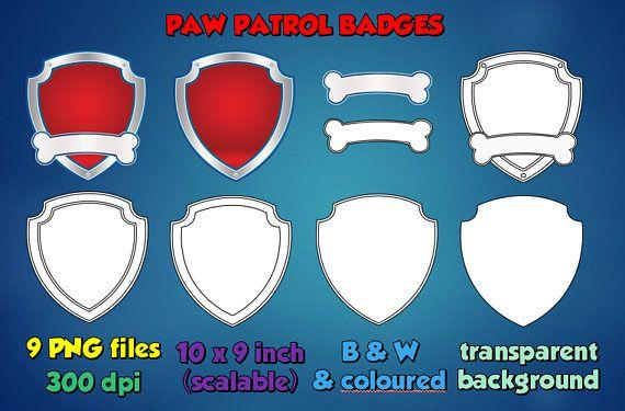 Paw Patrol Badge Outline Emblem Logo Image Clipart Transparent Dogum Gunu Doga