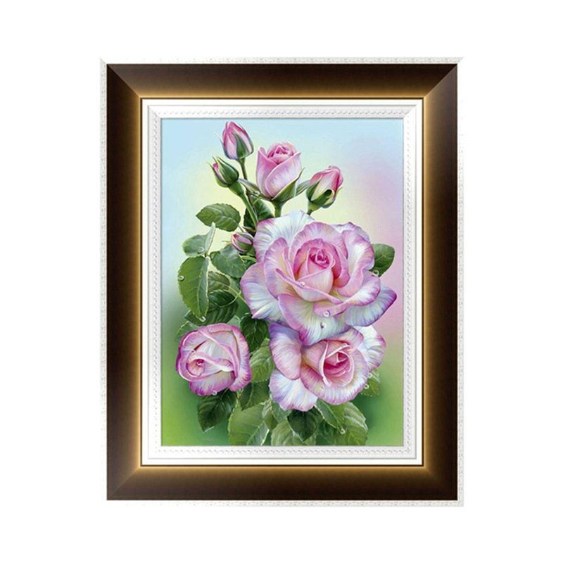 arts crafts home office. 5D Flower Diamond Embroidery Painting Cross Stitch DIY Craft Home Office Decor Arts Crafts