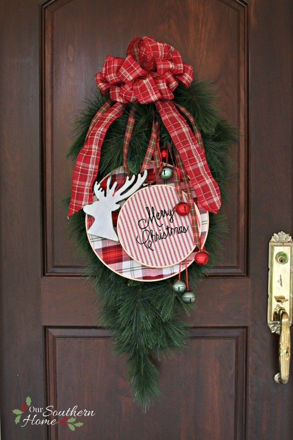 Christmas Front Porch Jingle bells, Wreaths and Southern