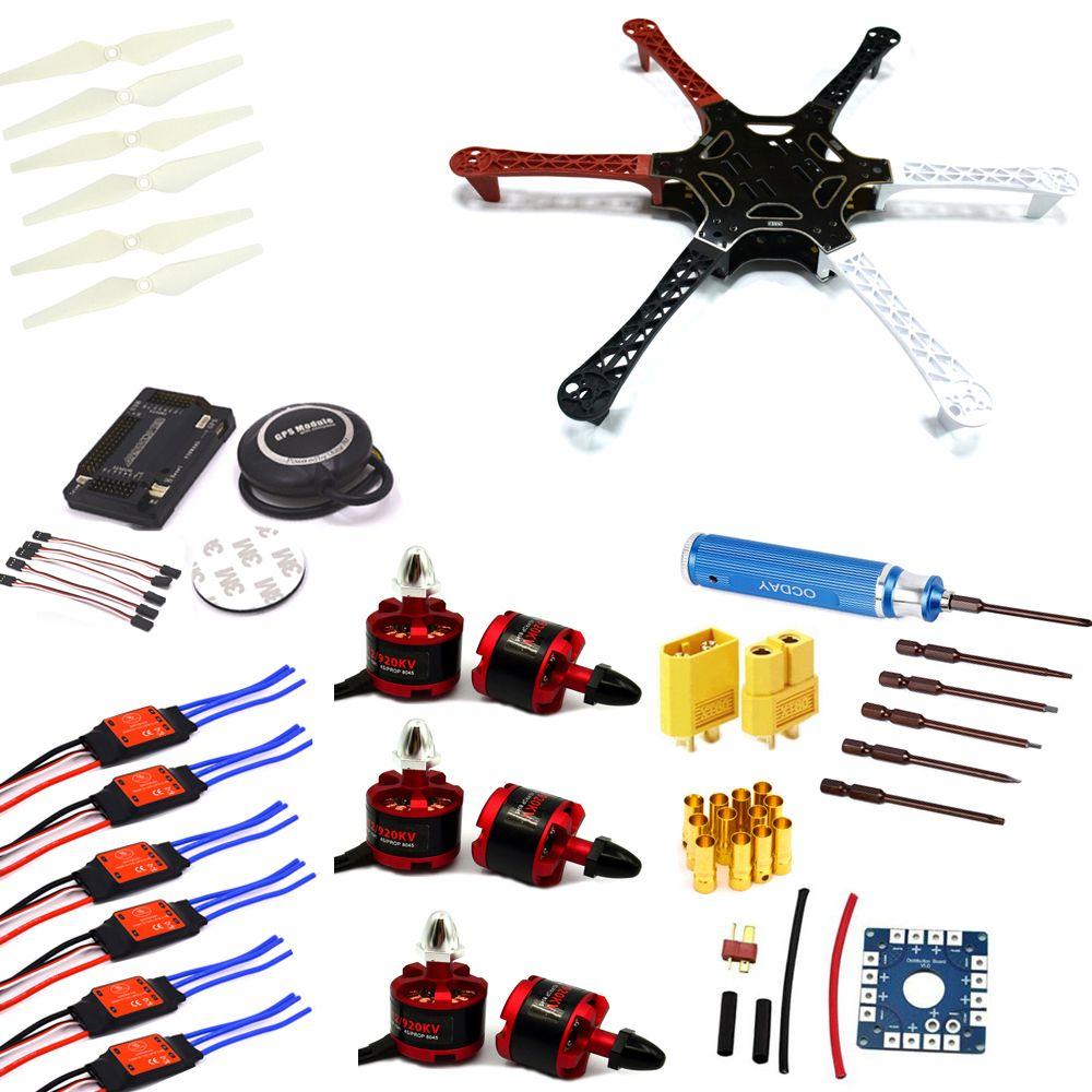 F550 Hexacopter Rahmen w/APM2.6 Flight control Neo-7M GPS 2212 920KV ...