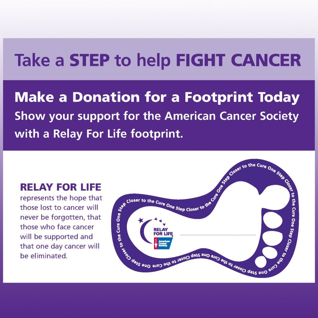 relay for life forms | step to help fight cancer by making a ...