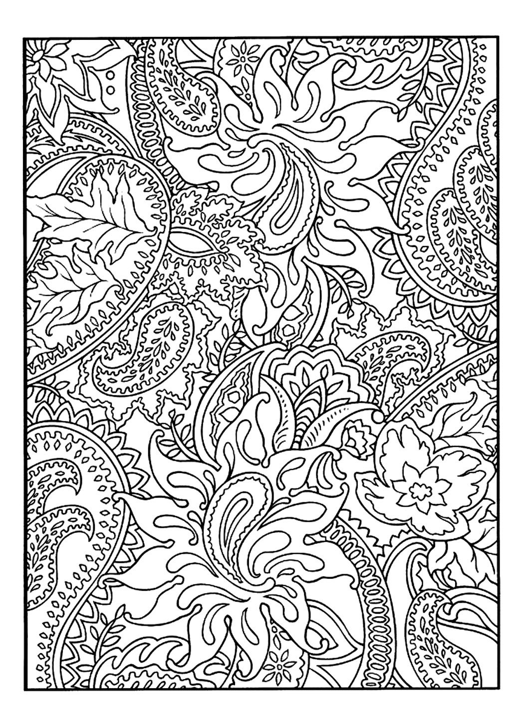 Free coloring page coloring-adult-pretty-patterns-plant. Drawing to ...