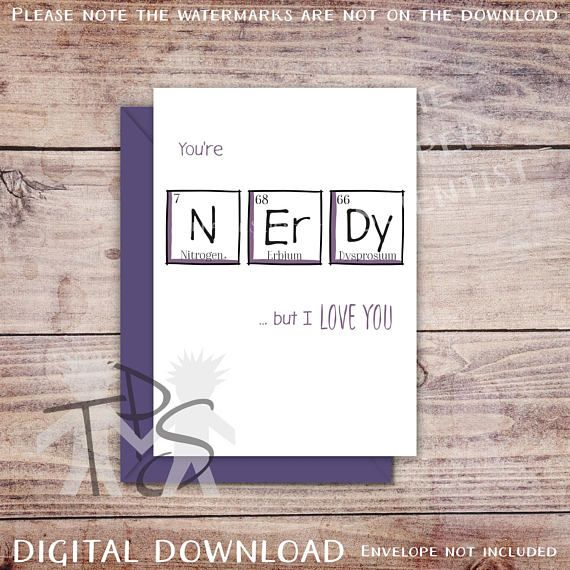 Printable Anniversary Card Greetings Card Periodic Table cards - new periodic table download
