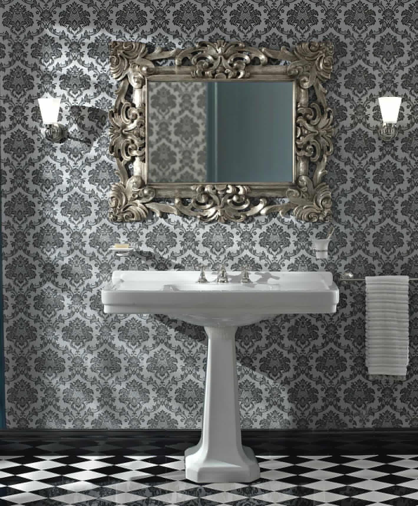 sbordoni #neoclassica #waschtischkonsole mit standsäule, Badezimmer ideen