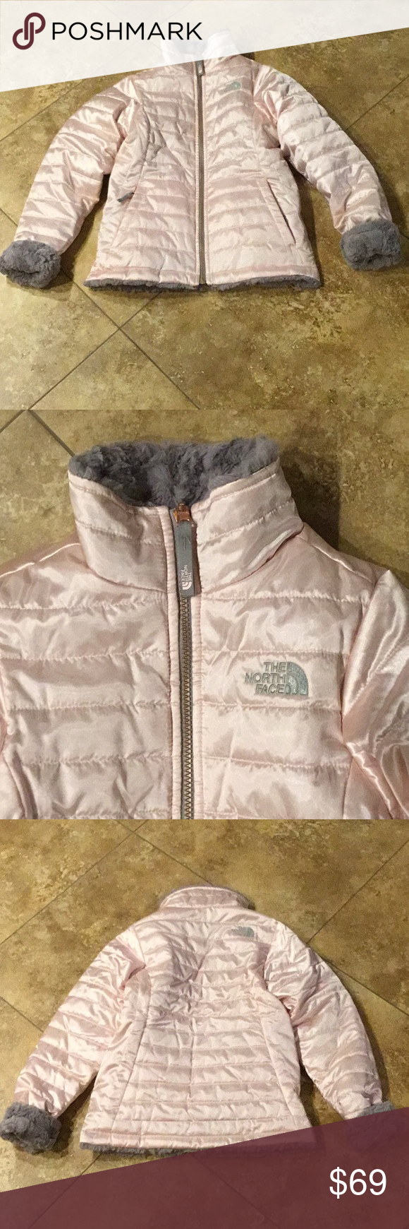 North Face Girls Pink Winter Jacket With Faux Fur North Face Girls Winter Jackets Justice Girls Clothes [ 1740 x 580 Pixel ]