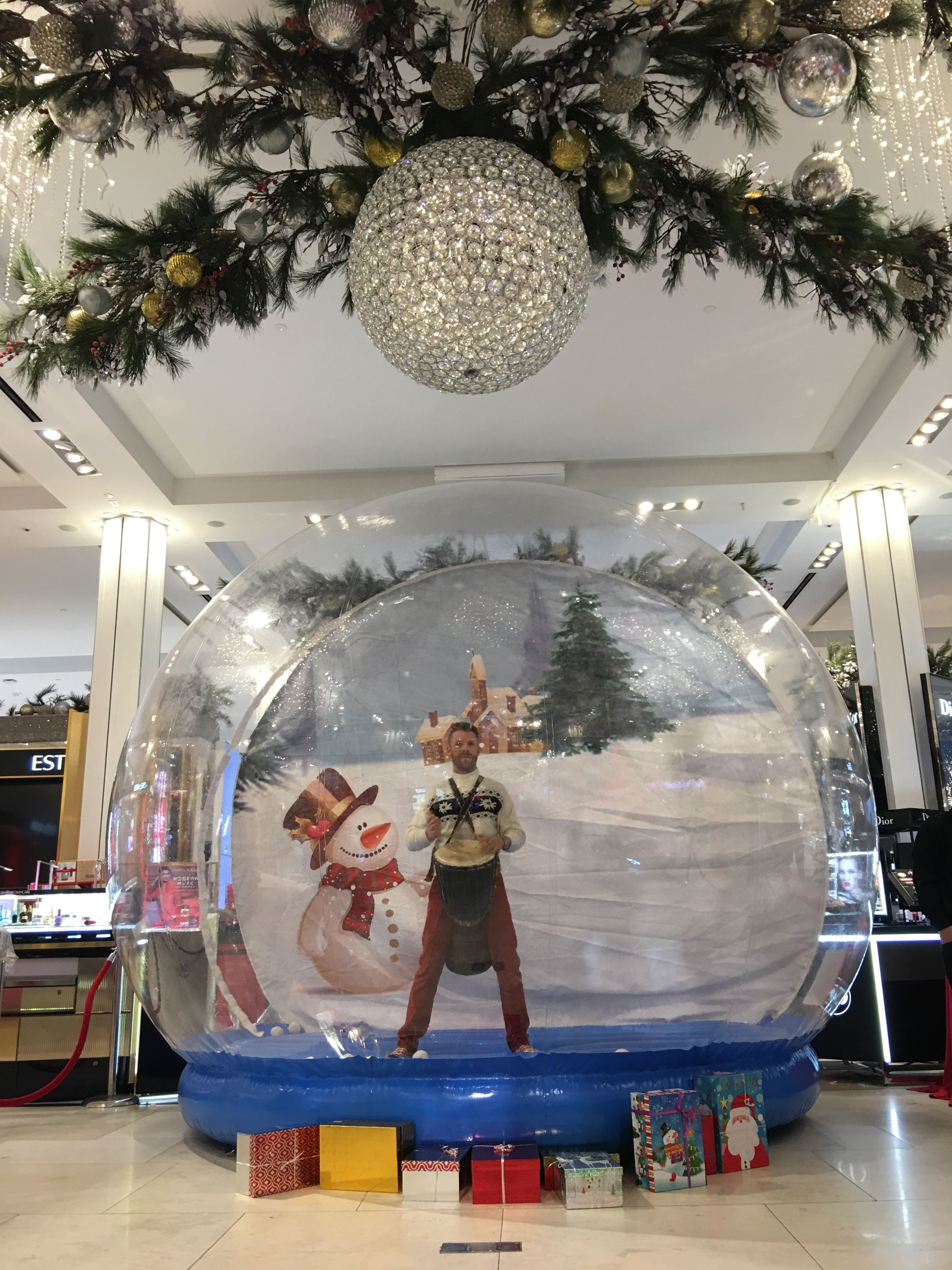 Step Inside The Fun This Winter With This Giant Snowglobe Photo