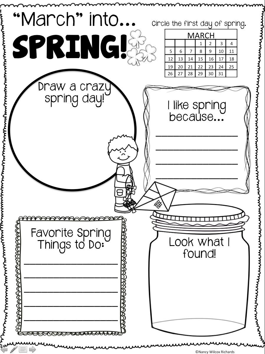 It's just a photo of Intrepid Spring Printable Activities