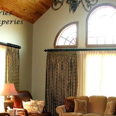 Living Room Arch Window Treatments Design, Pictures ...