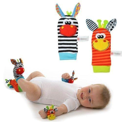 Cartoon Baby Toys 0-12 Months Sock Soft Animal Rattles Children Infantbor gut