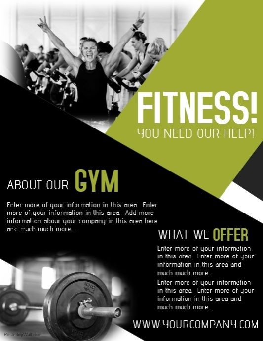 Workout Posters Fitness Flyer Gym Poster