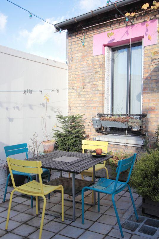 Chez Laetitia, du blog Vert cerise Mobilier de jardin Pinterest