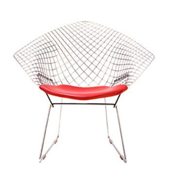 diamond chair 1952 1953 chromed bent and welded steel design harry bertoia - Iconic Chairs Design