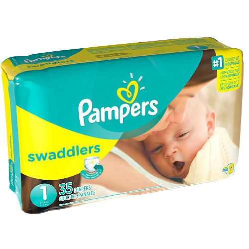 Pampers Swaddlers Size 1 Diapers Jumbo Pack - 35 Count